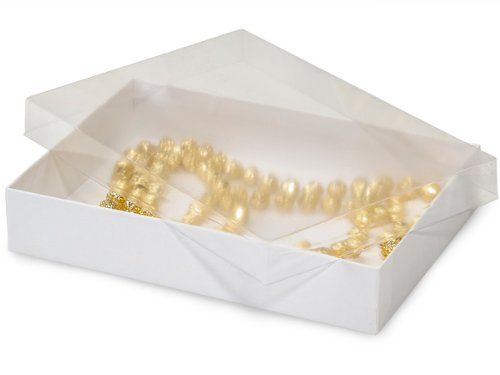 Pack of 100 7 x 5 x 125 clear lid display boxes wwhite bases pack of 100 7 x 5 x 125 clear lid display boxes w m4hsunfo