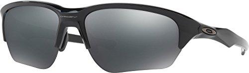 Oakley Men's Flak Beta Non-Polarized Iridium Rectangular Sunglasses, Polished Black, 64.03 - Flak Oakley Beta