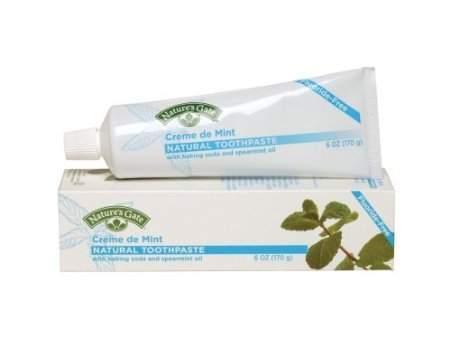 Toothpaste Herbal Creme De Mint (Nature's Gate Natural Toothpaste, Herbal Creme de Mint, 6-Ounce Tubes (Pack of 6))