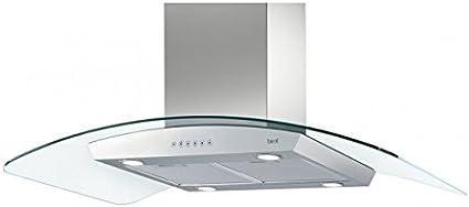 Best-Campana de Isla Sigma Island EM acero inoxidable y cristal de 90 x 60 cm: Amazon.es: Hogar