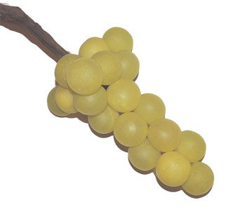Italian Alabaster Stone Oversized Grapes - Green 9'' by Italian Alabaster Grapes