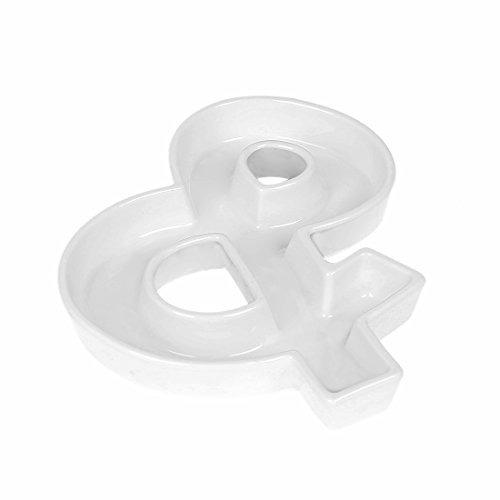 Coffeezone Ceramic Letter Dish & Plates for Candy / Nuts Ideas, Wedding Party Decoration (Shape &) (Ceramic Wedding)