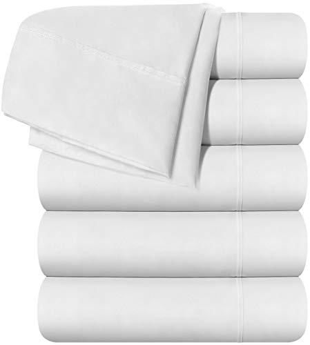 Utopia Bedding King Flat Sheet - White (6 Pack) ()