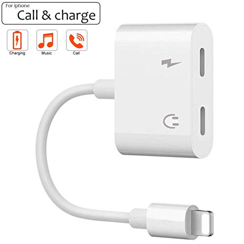 for iPhone Adapter Jack Headphone Adapter for iPhone Dongle Aux Audio Cables Adaptor Headset Splitter Audio & Charger & Call & sync Cable Accessory for iPhone Xs/Xs Max/XR/ 8/8 Plus/X (10) / 7/7 Plus