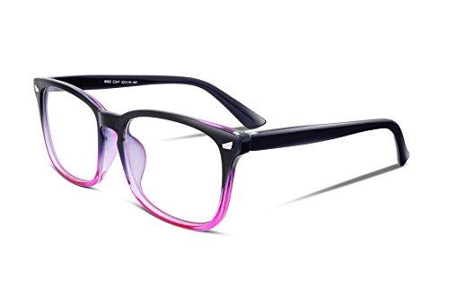 FEISEDY Square Glasses Frame Non Prescription Eyeglasses Clear Lens for Women Men B2286