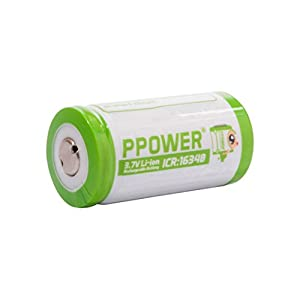 PPOWER Pbe 4 Packs of 700mah 3.7v Cr123a 16340 Li-ion Rechargeable Battery (4x)