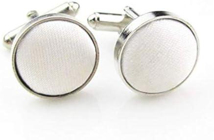 PANGUN Manches Boutons De Manchette Clou Chemise Bracelet Tissu Fil Boutons De Manchettes Mode Hommes en Vedette Solid Couleurs-Rose