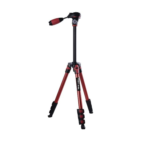 RetinaPix Fotopro S3 Sporty & Fashionable Red Color Tripod For DSLR Cameras 3-Way Head