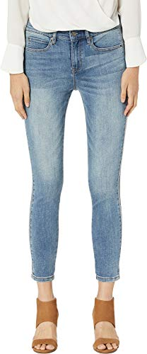Stud Back Pocket Jean (Nicole Miller New York Womens Hi Rise Ankle Skinny Jeans with Studs ,Mulberry ,16)
