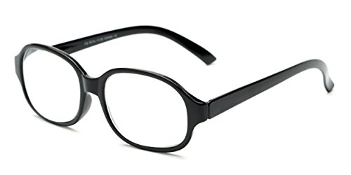 Readers.com The Salem +6.50 Black High Powered Oversized Square Reading - Fairwind Sunglasses