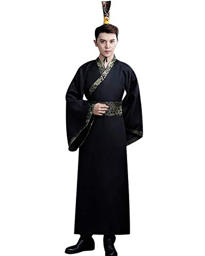 KINDOYO Chinese Style Costume - Men Hanfu Ancient Chinese Traditional Classical Retro Costume, Style 09, US M = Tag -