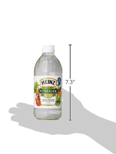 Heinz Distilled White Vinegar, 16 fl oz 6 Premium distilled white vinegar for all your recipe needs Sourced from sun-ripened corn All-Natural Ingredients