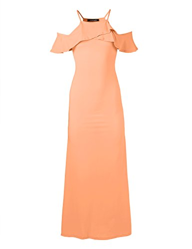 forever 21 black and peach dress - 1