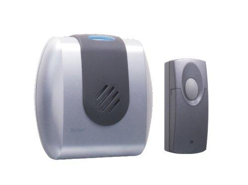 Byron BYRSX205i Kit Carillon gris vibreur et flash + Sonnette ZB-8720