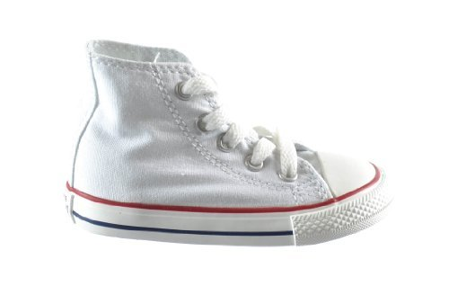 Converse Chuck Taylor All Star High top Infants Casual Shoes Optical White 7j253 (7 M US) (Kids High Converse White Top)