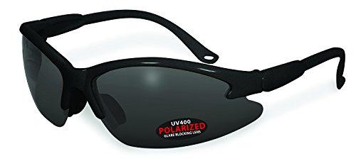 SSP Eyewear COWLITZ BLK GRY Unisex Polarized Sunglasses with Grey Lenses, - Specialized Sunglasses