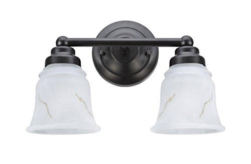 Aspen Creative 62009-2, Two-Light Metal Bathroom Vanity Wall Light Fixture, 13 1/2