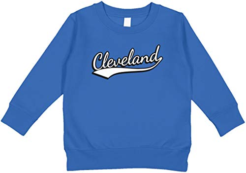 Amdesco Cleveland, Ohio Toddler Sweatshirt, Royal 3T