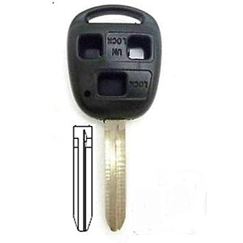 Carcasa llave Toyota/Land Cruiser 3 botones 3 botones Toyota Avensis Corrola verso- Marque nawo