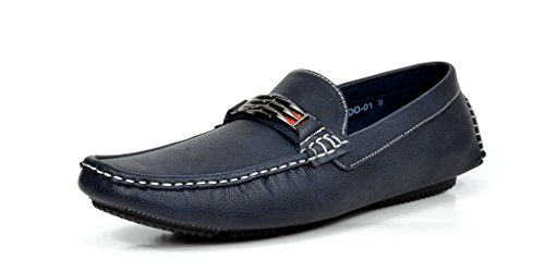 BRUNO MARC MODA ITALY KENDO-01 Men's Classy Fashion On The Go Driving Casual Loafers Boat shoes Navy Size 15