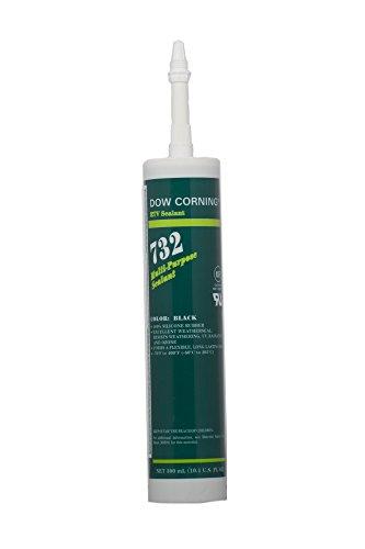 Dow Corning 1892011 732 Black Multi-Purpose Sealant, -60 to 205 Degree C, 300 mL - Dow Corning Rtv Sealant