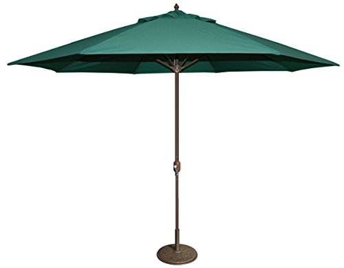Tropishade 11' Umbrella with Premium Green Olefin Cover