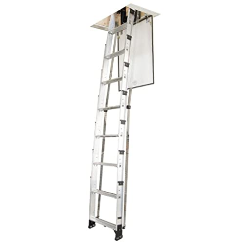 Werner AA10 250-Pound Duty Rating Televator Aluminum Universal Telescoping Attic Ladder 10-Foot  sc 1 st  Amazon.com & Pull Down Attic Ladder: Amazon.com