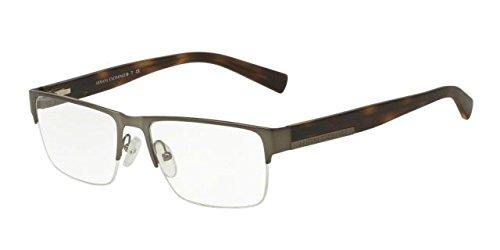 Armani Exchange AX1018 Eyeglass Frames 6017-54 - Matte Gunmetal AX1018-6017-54