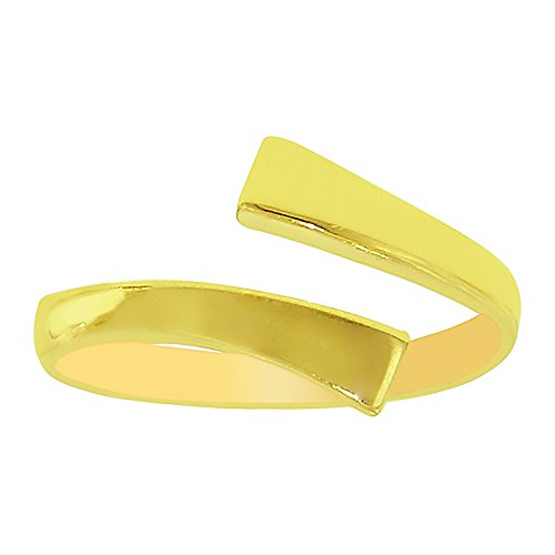 Ritastephens 10K Yellow Gold Crossover Shiny Toe Ring or Ring Adjustable