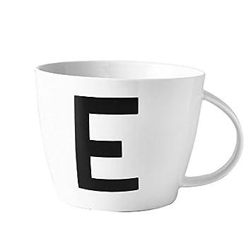 Yomiokla taza de cerámica de gran capacidad personalidad creativa taza súper carta taza de desayuno taza