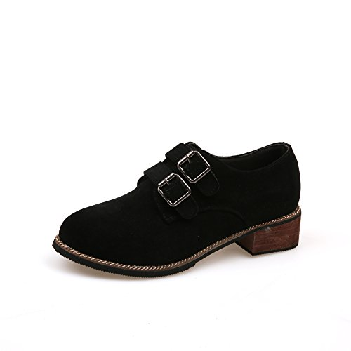 KHSKX-The Fall Of The New Double Belt Documentary Coarse Shoes Casual Shoes All-Match Korean Students. Thirty-six Pf9KXfvs