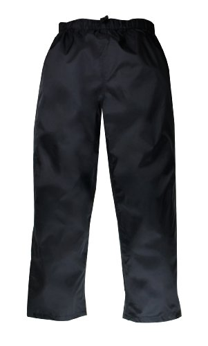 Seam Sealed Rain Pant - Red Ledge Men's Thunderlight Pant Pull On Rain Pant,Black,Large
