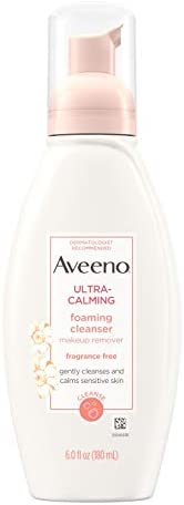 Aveeno Active Naturals Ultra Calming Foaming Cleanser, Fragrance-Free, 6 Ounce