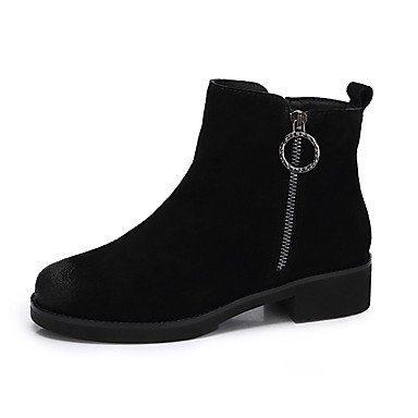 Black Boots US7 Winter Leather Women'S EU38 Fall Yellow Casual Boots UK5 RTRY 5 5 CN38 For Fashion Nubuck Shoes qCg7Cw4