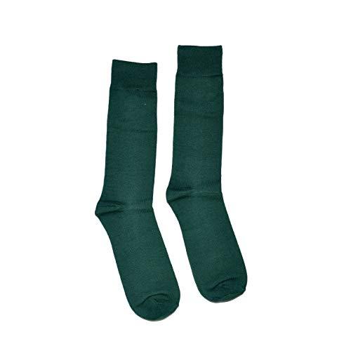 Men's Colorful Fancy Dress Socks 1 Pair - Solid Colors (Green -