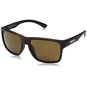 Suncloud Rambler Sunglasses, Blackened Tortoise Frame/Brown Polycarbonate Lens, One Size