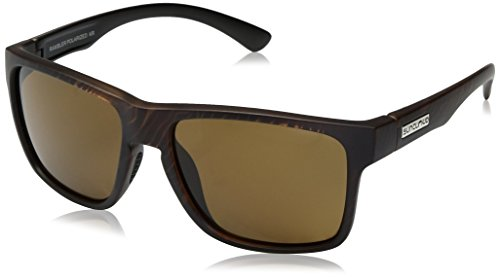 Suncloud Rambler Sunglasses, Blackened Tortoise Frame/Brown Polycarbonate Lens, One - Polarized Suncloud Sunglasses