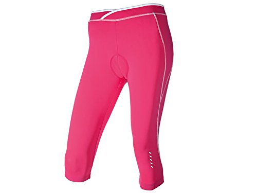 Damen 3/4 Fahrradhose Gepolstert Größe wählbar pink (M 40/42)
