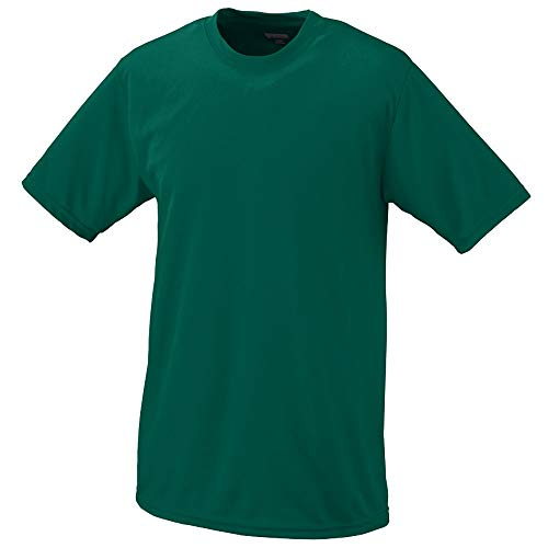 Augusta Sportswear Boys Wicking T-Shirt, X-Small, Dark Green