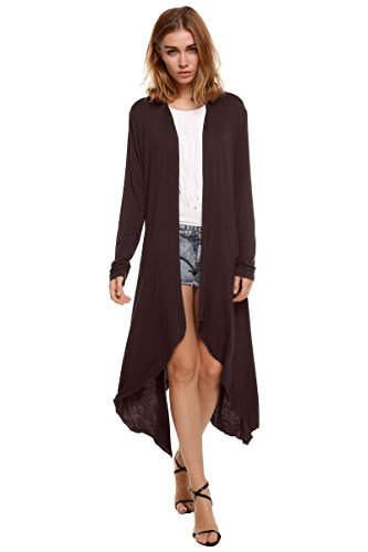 meaneor-womens-open-front-draping-front-waterfall-long-sleeve-cardigan-long-top-dark-brown-m