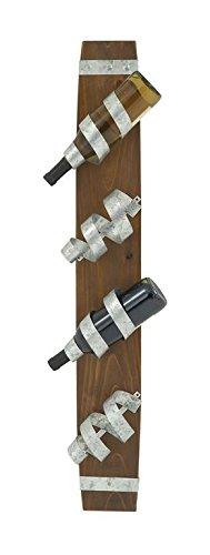 "UPC 758647852185, Deco 79 85218 Wood Metal Wall Wine Holder, 6"" x 39"""