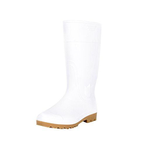 Unisex PVC Waterproof Rain Boots Joker Cosplay Shoes Halloween Costumes (13 (unisex) US, White-2) - White Boots With Heart