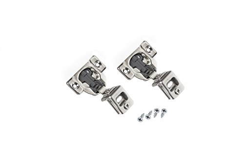 Comet Pro Hardware E55 1-1/4'' Compact Soft Close Face Frame Cabinet Door Hinges Full Overlay Nickel Plated, Screws are Included (40 Pack) by Comet Pro Hardware (Image #1)