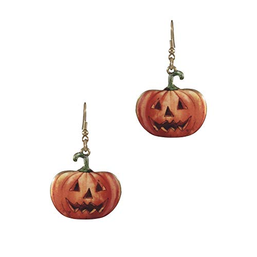 Cute Jack O-lanterns - Wonderent Halloween Cute Jack O Lantern Pumpkin Metal Dangle Earrings