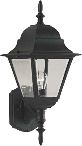 Forte Lighting 1707-01 Outdoor Wall Sconce from the Exterior Lighting Collection, Black