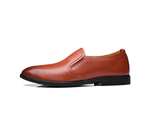 Estate Round Ribbon da Business Autunno Casual Scarpe Punta Brown Inverno Tela zmlsc Uomo Sport A Soft Primavera Colore qw0YE7E