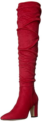 Chinese Laundry Women's RAMI Knee High Boot, Lollipop RED Suede, 9 M US