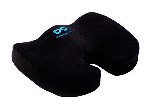 -[ Everlasting Comfort 100% Pure Memory Foam Luxury Seat Cushion, Orthopedic Design To Relieve Back