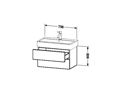 Duravit Waschtischunterschrank wandh. Delos 445x750x448mm 2 SchKa, für 045480, weiss hochglanz, DL63