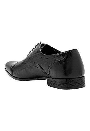 next Herren Strukturierte Schuhe Leder Schwarz